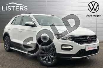 Volkswagen T-Roc 1.5 TSI EVO SE 5dr in Pure white at Listers Volkswagen Coventry