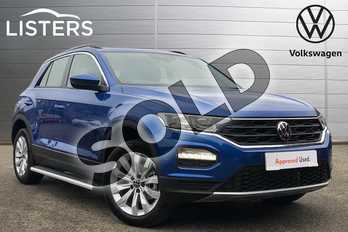 Volkswagen T-Roc 1.5 TSI EVO SE 5dr in Ravenna Blue Metallic at Listers Volkswagen Coventry