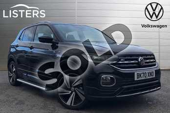 Volkswagen T-Cross 1.0 TSI 115 R Line 5dr DSG in Deep black at Listers Volkswagen Coventry