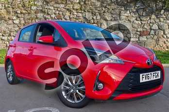 Toyota Yaris 1.5 VVT-i Icon 5dr CVT in Tokyo Red at Listers Toyota Coventry