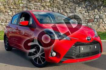 Toyota Yaris 1.5 VVT-i Icon Tech 5dr in Chilli Red at Listers Toyota Coventry