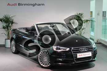 Audi A3 2.0 TDI Sport 2dr in Phantom Black, pearl effect at Birmingham Audi