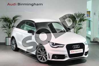 Audi A1 1.6 TDI S Line Style Edition 3dr in Glacier White, metallic at Birmingham Audi