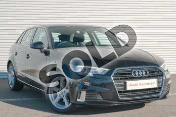 Audi A3 1.4 TFSI Sport 5dr in Myth Black Metallic at Coventry Audi