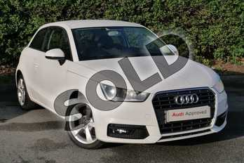 Audi A1 1.4 TFSI Sport 3dr in Shell White at Worcester Audi