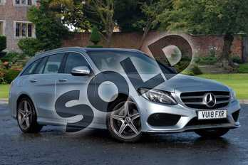 Mercedes-Benz C Class C220d AMG Line Premium Plus 5dr 9G-Tronic in Diamond Silver Metallic at Mercedes-Benz of Lincoln