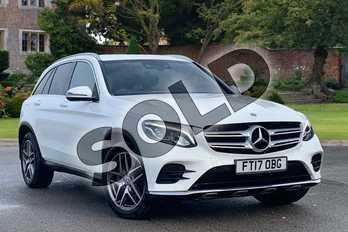 Mercedes-Benz GLC GLC 220d 4Matic AMG Line 5dr 9G-Tronic in Polar White at Mercedes-Benz of Lincoln
