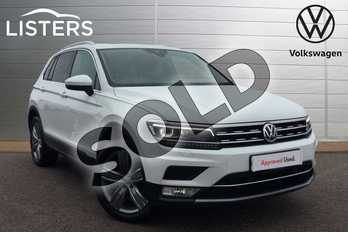 Volkswagen Tiguan 2.0 TDI 150 4Motion SEL 5dr in Pure White at Listers Volkswagen Loughborough