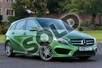 Mercedes-Benz B Class B180d AMG Line Premium Plus 5dr in elbaite green at Mercedes-Benz of Boston