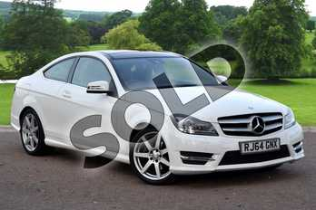 Mercedes-Benz C Class C250 CDI AMG Sport Edition 2dr Auto (Premium Plus) in Polar White at Mercedes-Benz of Grimsby