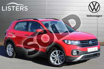 Volkswagen T-Cross 1.0 TSI 115 SE 5dr in Flash Red at Listers Volkswagen Nuneaton