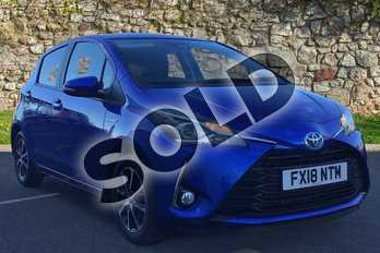 Toyota Yaris 1.5 Hybrid Icon Tech 5dr CVT in Nebula Blue at Listers Toyota Boston