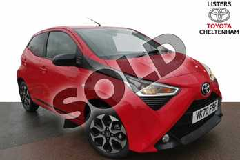 Toyota AYGO 1.0 VVT-i X-Trend 5dr in Red Pop at Listers Toyota Cheltenham