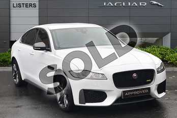 Jaguar XF 2.0 i4 Petrol (300PS) 300 SPORT AWD in Yulong White at Listers Jaguar Droitwich