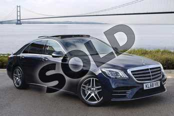 Mercedes-Benz S Class S350d L AMG Line Executive 4dr 9G-Tronic in Cavansite Blue metallic at Mercedes-Benz of Hull