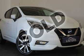 Nissan Micra 0.9 IG-T N-Connecta 5dr in Special Solid - White at Listers U Stratford-upon-Avon