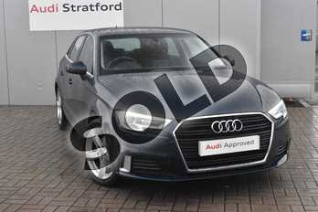 Audi A3 2.0 TDI Sport 5dr S Tronic in Cosmos blue, metallic at Stratford Audi