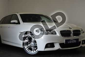 BMW 5 Series 520d (190) M Sport 5dr Step Auto in Solid - Alpine white at Listers U Stratford-upon-Avon