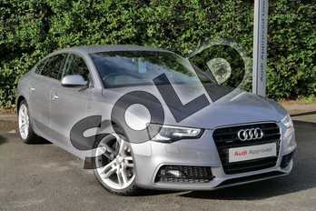 Audi A5 2.0T FSI 230 Quattro S Line 5dr S Tronic(Nav)(5St) in Tornado Grey, metallic at Worcester Audi