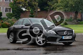 Mercedes-Benz C Class C220d AMG Line 4dr 9G-Tronic in Obsidian Black Metallic at Mercedes-Benz of Lincoln