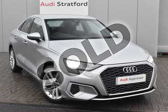 Audi A3 30 TFSI Sport 4dr in Floret Silver Metallic at Stratford Audi