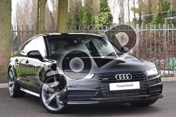 Audi A7 3.0 TDI Quattro 272 Black Edition 5dr S Tronic in Mythos Black, metallic at Coventry Audi