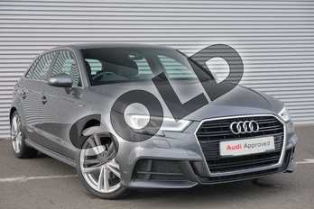 Audi A3 1.5 TFSI S Line 5dr S Tronic in Daytona Grey Pearlescent at Coventry Audi