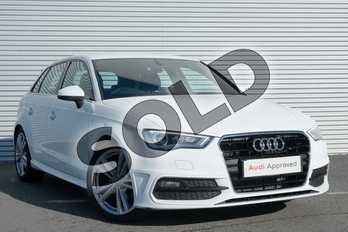 Audi A3 1.4 TFSI 125 S Line 5dr (Nav) in Ibis White at Coventry Audi
