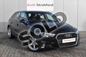 Audi A3 1.0 TFSI Sport 5dr in Myth Black Metallic at Stratford Audi
