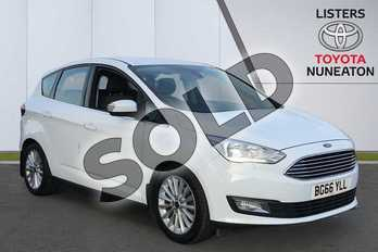 Ford C-MAX 1.5 TDCi Titanium 5dr in White at Listers Toyota Nuneaton