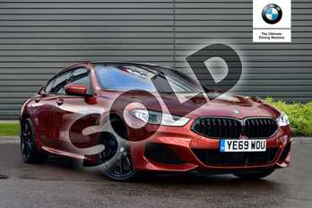 BMW 8 Series 840i sDrive 4dr Auto in Sunset Orange metallic paint at Listers Boston (BMW)