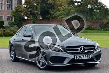 Mercedes-Benz C Class C 220 d AMG Line Saloon in selenite grey metallic at Mercedes-Benz of Lincoln