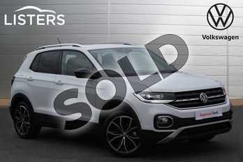 Volkswagen T-Cross 1.0 TSI 115 SEL 5dr DSG in Pure White at Listers Volkswagen Nuneaton