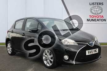 Toyota Yaris 1.5 Hybrid Excel 5dr CVT in Black at Listers Toyota Nuneaton