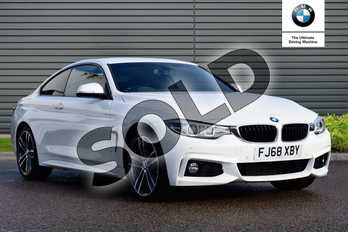 BMW 4 Series 420i xDrive M Sport 2dr Auto (Professional Media) in Alpine White at Listers Boston (BMW)