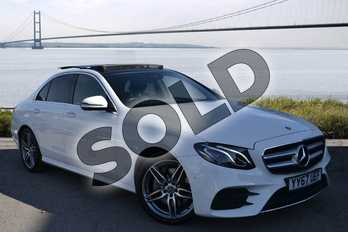 Mercedes-Benz E Class E220d AMG Line Premium 4dr 9G-Tronic in Polar White at Mercedes-Benz of Lincoln