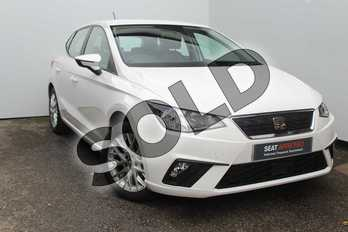 SEAT Ibiza 1.0 TSI 95 SE Technology (EZ) 5dr in White at Listers SEAT Worcester