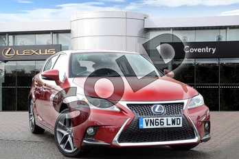 Lexus CT 200h 1.8 F-Sport 5dr CVT Auto in Mesa Red at Lexus Coventry