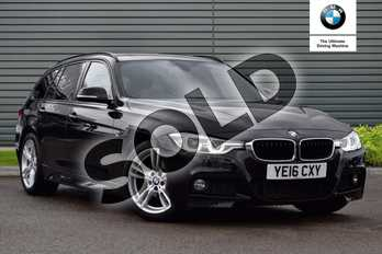 BMW 3 Series 320d M Sport 5dr Step Auto in Black Sapphire metallic paint at Listers Boston (BMW)