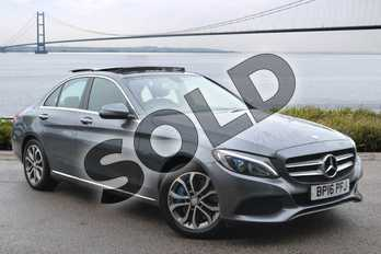 Mercedes-Benz C Class C350e Sport Premium 4dr Auto in Selenite Grey metallic at Mercedes-Benz of Hull