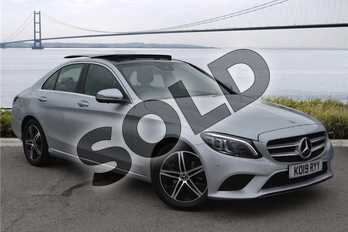 Mercedes-Benz C Class C220d Sport Premium Plus 4dr 9G-Tronic in Metallic - Iridium silver at Mercedes-Benz of Hull