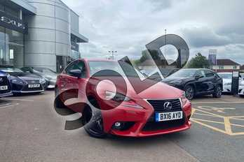 Lexus IS 300h Sport 4dr CVT Auto in Red at Lexus Cheltenham