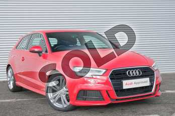 Audi A3 1.4 TFSI S Line 3dr in Tango Red Metallic at Coventry Audi