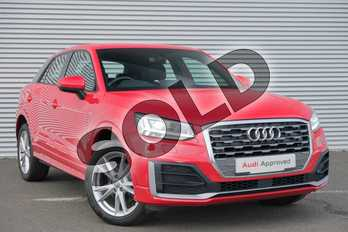 Audi Q2 1.6 TDI S Line 5dr in Tango Red Metallic at Coventry Audi
