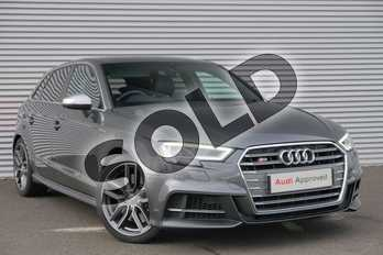 Audi A3 S3 TFSI Quattro 5dr S Tronic in Daytona Grey Pearlescent at Coventry Audi