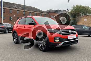 Volkswagen T-Cross 1.0 TSI 115 SE 5dr in Flash Red at Listers Volkswagen Leamington Spa