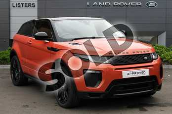 Range Rover Evoque 2.0 TD4 HSE Dynamic 3dr Auto in Phoenix Orange at Listers Land Rover Droitwich