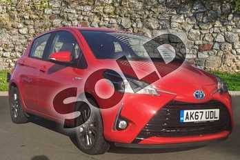 Toyota Yaris 1.5 Hybrid Icon 5dr CVT in Red at Listers Toyota Grantham