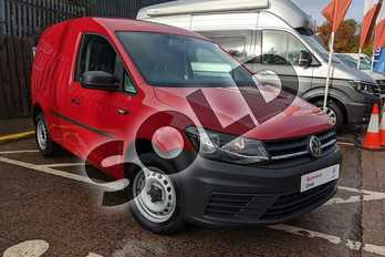 Volkswagen Caddy 2.0 TDI BlueMotion Tech 102PS Startline Van in Cherry Red at Listers Volkswagen Van Centre Worcestershire