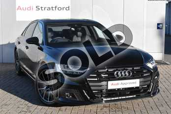 Audi A8 55 TFSI Quattro Black Edition 4dr Tiptronic in Myth Black Metallic at Stratford Audi